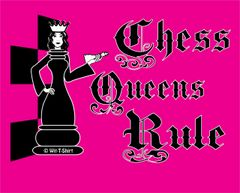 Chess Queens Rule - Black Queen
