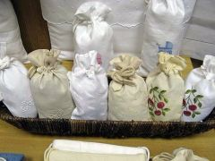 Embroidered Linens: Bags, Multi-purpose