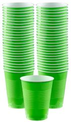 Big Party Pack Kiwi Plastic Cups, 16 oz - 50ct