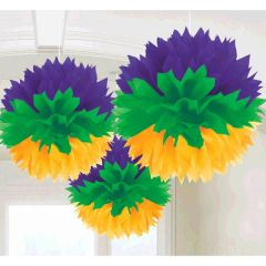 Mardi Gras Fluffy Hanging Decorations