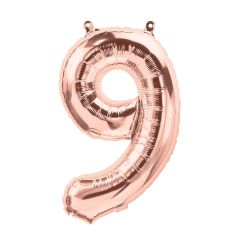 "16"" NUMBER 9 ROSE GOLD – PKG"