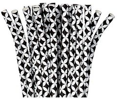 Black Diamond Flexible Paper Straws, 24ct
