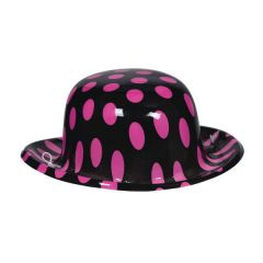 50's Mini Pink & Black Hat