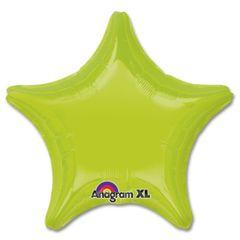 Star 09 Kiwi Green Mylar Balloon 18in