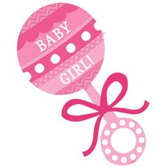 Baby Girl Rattle Cutout