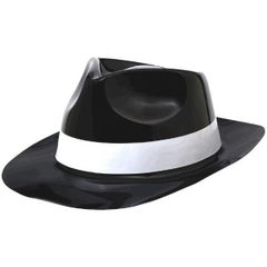 50's Fedora - Black W/White Band
