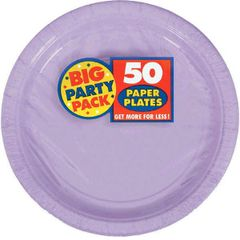 "Big Party Pack Lavender Dessert Paper Plates, 7"" - 50ct"