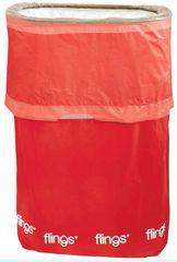 Apple Red Flings® Pop-Up Trash Bin