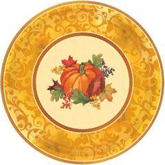 "Bountiful Holiday Metallic Plates, 12"""