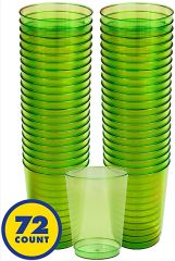 Big Party Pack Kiwi Green Plastic Cups, 10oz - 72ct