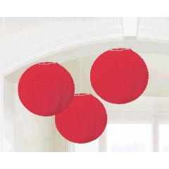 Apple Red Round Paper Lanterns