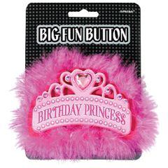 Birthday Princess Big Fun Button