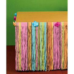 Totally Tiki Tissue Table Skirt with Flowers