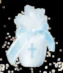 Blue Cross Votive Candle