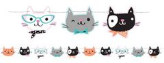 Purr-fect Party Shaped Banner with Twine