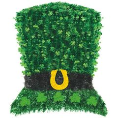 Deluxe Tinsel Leprechaun Hat Decoration