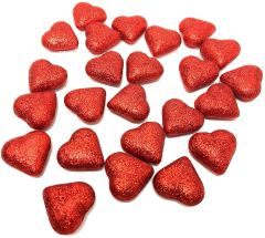 Red Glitter Heart Table Scatters, 24ct