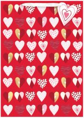 Pattern Hearts Extra Large Gift Bag