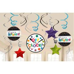 Officially Retired Value Pack Foil Swirl Decorations