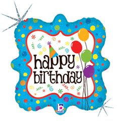 Birthday Squiggles & Dots 18in