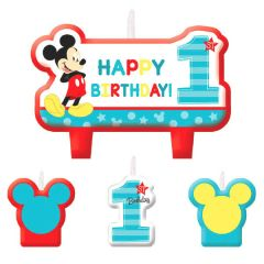 ©Disney Mickey's Fun To Be One Birthday Candle Set, 4ct