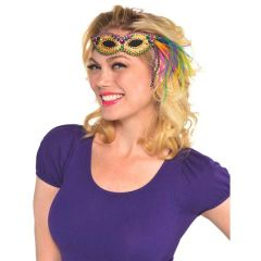 Mardi Gras Mask Headband