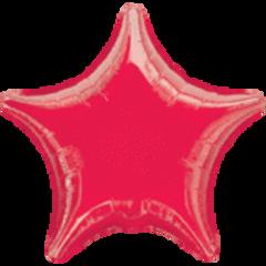 Star 40 Metallic Red Mylar Balloon 19in