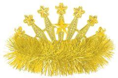 Yellow Star Tinsel Tiara