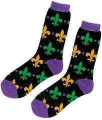 Fleur de Lis Crew Socks