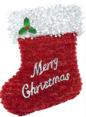 Deluxe Tinsel Stocking Decoration