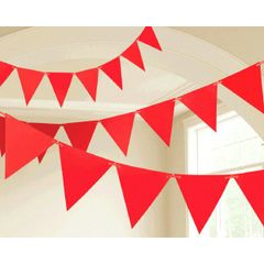 Apple Red Paper Pennant Banners