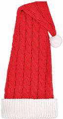 Long Cable Knit Santa Hat