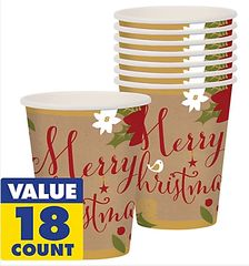 Merry Little Christmas Cups, 9 oz.