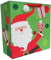 Whimsical Santa Large Square Bag