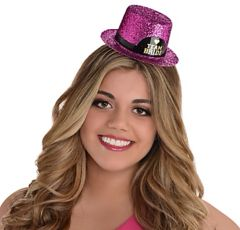 Glitter Team Bride Mini Top Hat