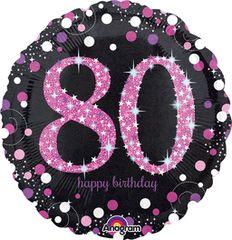 "Pink 80th Celebration 18"""