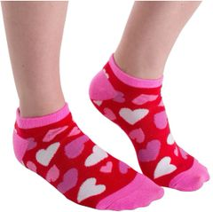 Valentine Hearts No Show Socks