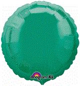 Round 14 Emerald Green Mylar Balloon 18in