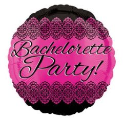 Bachelorette Party Lace Balloon 17""