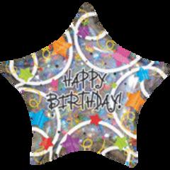 Happy Birthday Stars 18in