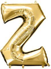 """Gold Letter Z - 34"""" Mylar Balloon"""