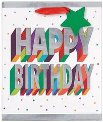 3-D Birthday Medium Bag w/ Gift Tag