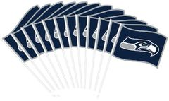 Seattle Seahawks Plastic Flags, 12ct