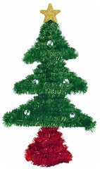 3D Tinsel Tree Decoration