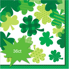 Blooming Shamrocks Luncheon Napkins, 36ct