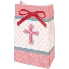 Pink Sweet Religious Favor Bags, 12ct
