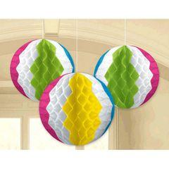 Beach Ball Honeycomb Decorations