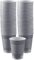 Big Party Pack Silver Plastic Cups, 16 oz - 50ct