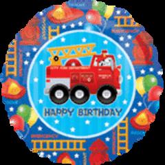 Fire Engine Fun Birthday 18in