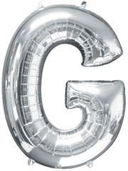 "Silver Letter G - 34"" Mylar Balloon"